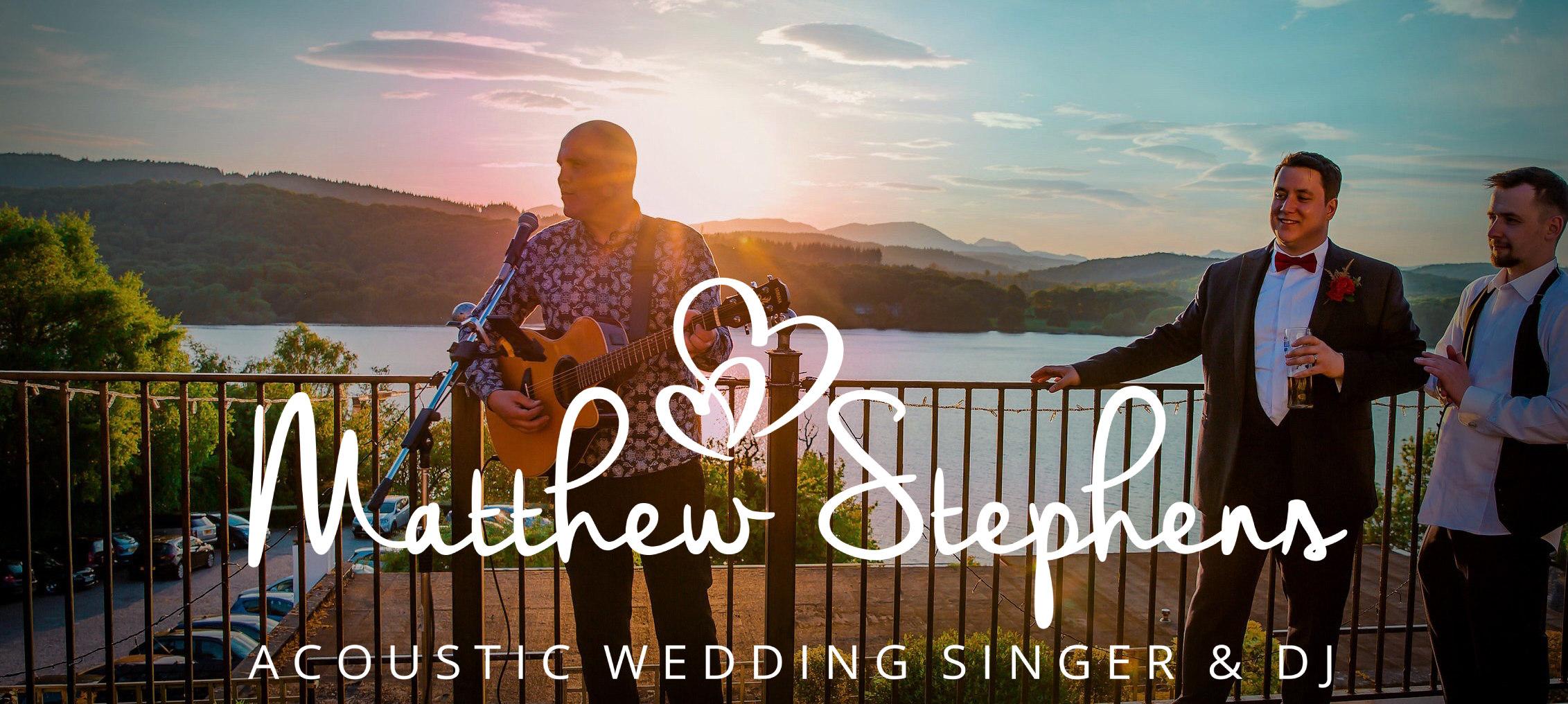 Matthew Stephens - wedding singer Derbyshire
