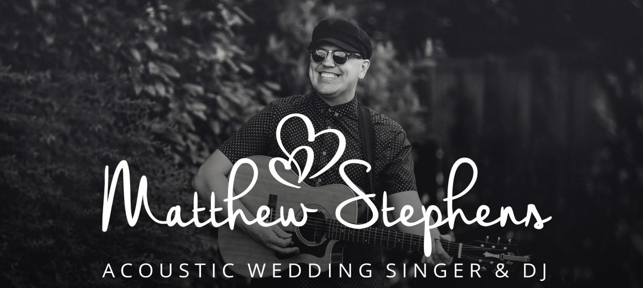 Matthew Stephens acoustic wedding singer Barnsley, Yorkshire and UK